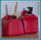 Gas cans in garage