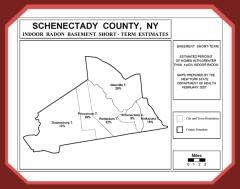 Schenectady radon map