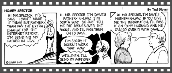 Inspector cartoon, Home Inspector in Albany, NY