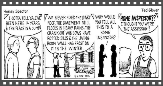 Home Inspection Comic Strip, Saratoga Spa Home Inspector