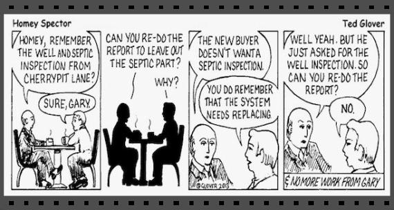 Home Inspecter cartoon, Clifton Park Home Inspections