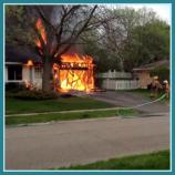 Garage fire in home