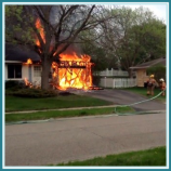 Garage fire in home
