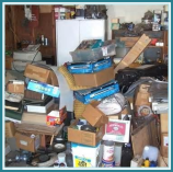 Stored items in  Albany home's garage