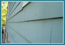Asbestos fiber siding in Nassau, NY home inspection