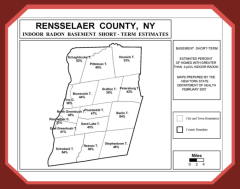 Rensselaer county radon map