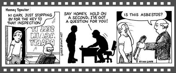 Asbestos comic strip, HouseAbout Home Inspections